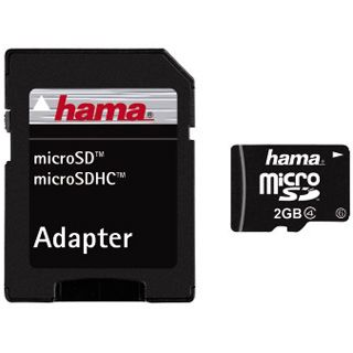 2 GB Hama High Speed microSD Class 4 Bulk inkl. Adapter