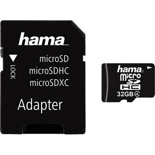 32 GB Hama High Speed Mobile microSDHC Class 4 Retail inkl. Adapter
