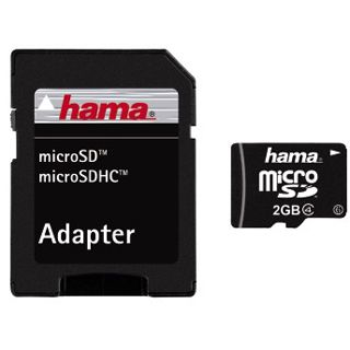 2 GB Hama Mobile microSD Class 4 Retail inkl. Adapter