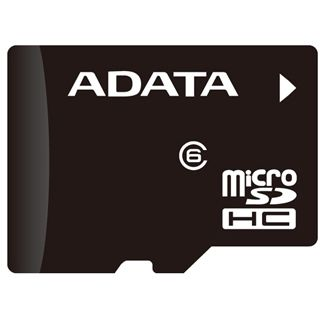 4 GB ADATA Turbo microSDHC Class 4 Retail inkl. Adapter