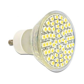 LED Delock LED Leuchtmittel GU10, 60 LED, warmweiß 4,5W dimmbar