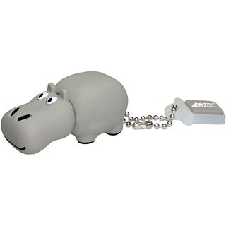 4 GB EMTEC Animals M324 Hippo grau USB 2.0