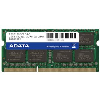 2GB ADATA DDR3-1333 SO-DIMM CL9 Single
