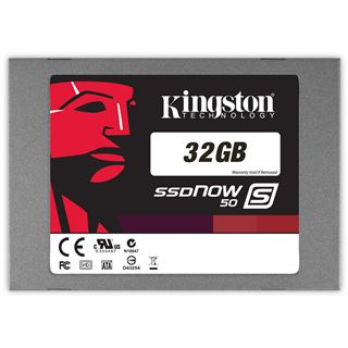 "32GB Kingston SSDNow S50 2.5"" (6.4cm) SATA 3Gb/s MLC asynchron (SS050S2/32G)"