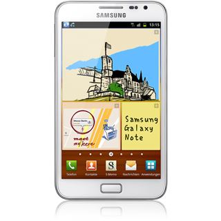 Samsung Galaxy Note N7000 16 GB weiß