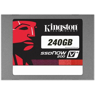 "240GB Kingston SSDNow V+ 200 2.5"" (6.4cm) SATA 6Gb/s MLC asynchron (SVP200S3/240G)"