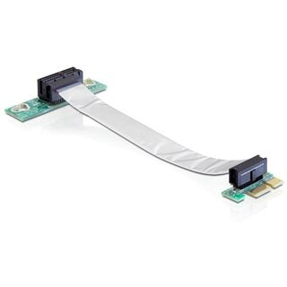 Delock PCIe x1 flexibel links gerichtet Riser Card für PCIe x1 (41839)