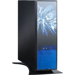 Inter-Tech X7 Firework ITX Tower 60 Watt schwarz/blau