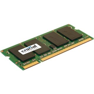 1GB Crucial CT12864AC800 DDR2-800 SO-DIMM CL5 Single