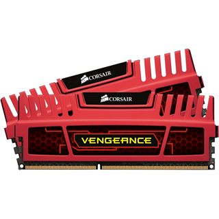 16GB Corsair Vengeance Red DDR3-1600 DIMM CL10 Dual Kit
