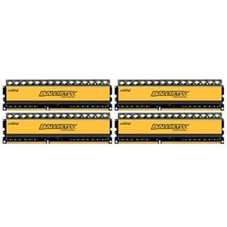 16GB Crucial Ballistix DDR3-1600 DIMM CL8 Quad Kit