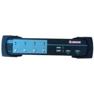 Longshine LCS-K702 4-fach Desktop KVM-Switch