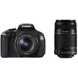 Canon EOS 600D Kit inklusive EF-S 18-55 mm f/3.5-5.6 IS II + EF-S 55-250 mm f/4-5.6 IS II