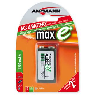 ANSMANN maxE 9V / E Block Nickel-Metall-Hydrid 9.0 V 1er Pack