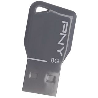 8 GB PNY Key Attache silber USB 2.0