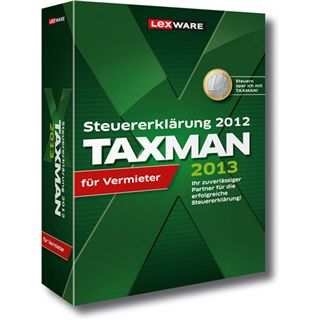 Lexware Taxman 2013 für Vermieter 32/64 Bit Deutsch Office Vollversion PC (DVD)
