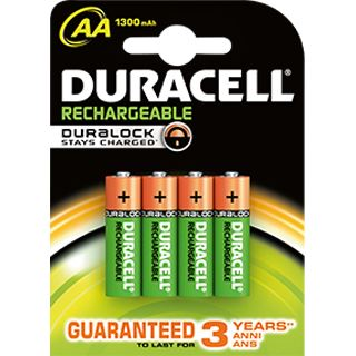 Duracell Stay Charged AAA / Micro Nickel-Metall-Hydrid 800 mAh 4er Pack