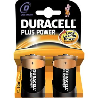 Duracell Plus Power D / Mono Alkaline 1.5 V 2er Pack