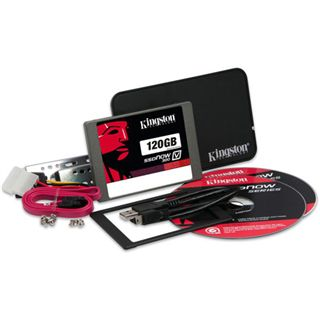 "120GB Kingston SSDNow V300 Upgrade Kit 2.5"" (6.4cm) SATA 6Gb/s MLC asynchron (SV300S3B7A/120G)"