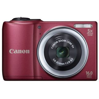 Canon PowerShot A810 rot 16 MP, 5x opt. Zoom, HD-Movie, 6,8cm LCD