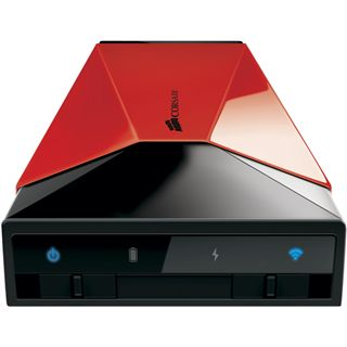 "1000GB Corsair Voyager Air CMFAIR-RED-1000-EU 3.5"" (8.9cm) USB 3.0/LAN/WLan schwarz/rot"