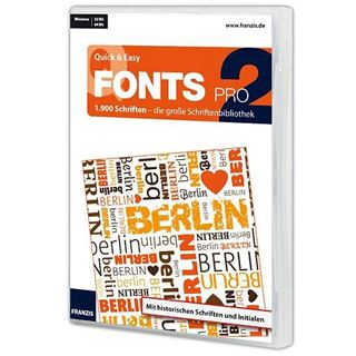 Franzis Fonts Pro 2 32/64 Bit Deutsch Office Vollversion PC (DVD)