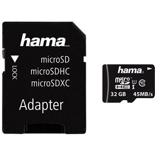 32 GB Hama Photo microSDHC UHS-I Retail inkl. Adapter