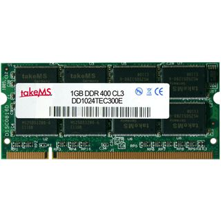 1GB takeMS DD1024TEC300E DDR-400 SO-DIMM CL3 Single