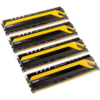 16GB Avexir Core Series blaue LED DDR3-2400 DIMM CL10 Quad Kit