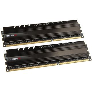 8GB Avexir Core Series rote LED DDR3-1600 DIMM CL9 Dual Kit