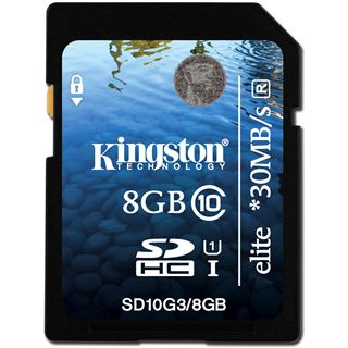 8 GB Kingston Elite SDHC Class 10 Retail