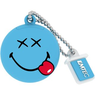 8 GB EMTEC Smiley World SW103 Happy Days blau USB 2.0