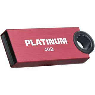 4 GB Platinum HighSpeed Slender rot USB 2.0