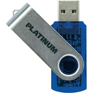 8 GB Platinum Twister blau USB 2.0