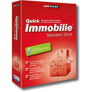 Lexware QuickImmobilie 2014 32/64 Bit Deutsch Office Vollversion PC (CD)