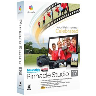 Corel Pinnacle Studio 17.0 32/64 Bit Multilingual Videosoftware Vollversion PC (DVD)