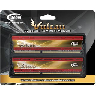 16GB TeamGroup Vulcan Series Red DDR3-2400 DIMM CL11 Dual Kit