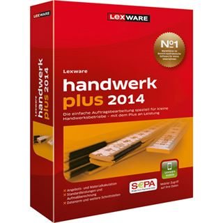 Lexware Handwerk Plus 2014 32/64 Bit Deutsch Finanzen Vollversion PC (CD)