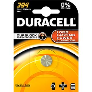 Duracell Batterie Silver Oxide, Knopfzelle, 394, 1.5V