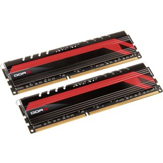 16GB Avexir Core Series MPOWER rote LED DDR3-2666 DIMM CL12 Dual Kit