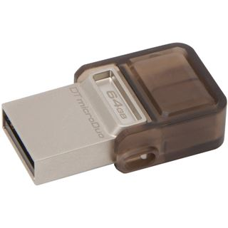 64 GB Kingston DataTraveler microDuo braun USB 2.0 und microUSB
