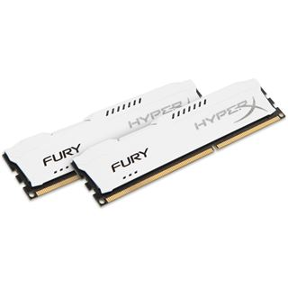8GB HyperX FURY weiß DDR3-1600 DIMM CL10 Dual Kit