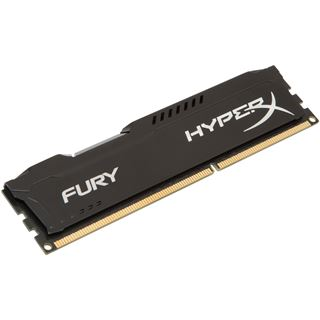 4GB HyperX FURY schwarz DDR3-1600 DIMM CL10 Single