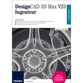 Franzis DesignCAD 3D Max V23 - Ingenieur Deutsch Grafik Vollversion PC (CD)