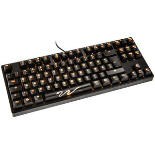 Ducky Shine 3 Slim orange LED CHERRY MX Black USB Deutsch schwarz (kabelgebunden)