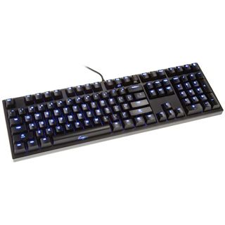 Ducky Zero Zone blaue LED CHERRY MX Red USB Deutsch schwarz (kabelgebunden)