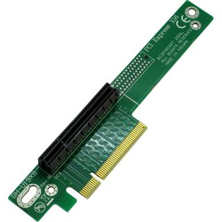 Inter-Tech 90° links gerichtet Riser Card für PCIe x8 (88885221)