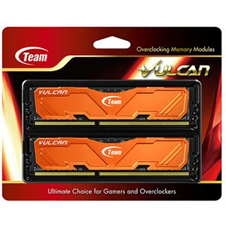 8GB TeamGroup Vulcan Series orange DDR3-2400 DIMM CL11 Dual Kit