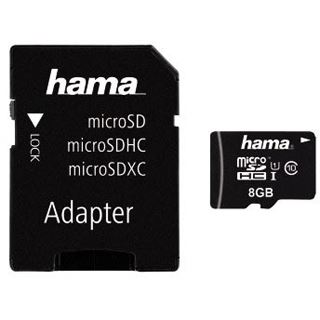 8 GB Hama UHS-I 45MB/s microSDHC UHS-I Retail inkl. Adapter auf SD
