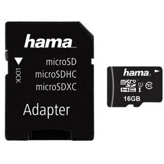 16 GB Hama Action Cam microSDHC UHS-I Retail inkl. Adapter auf SD